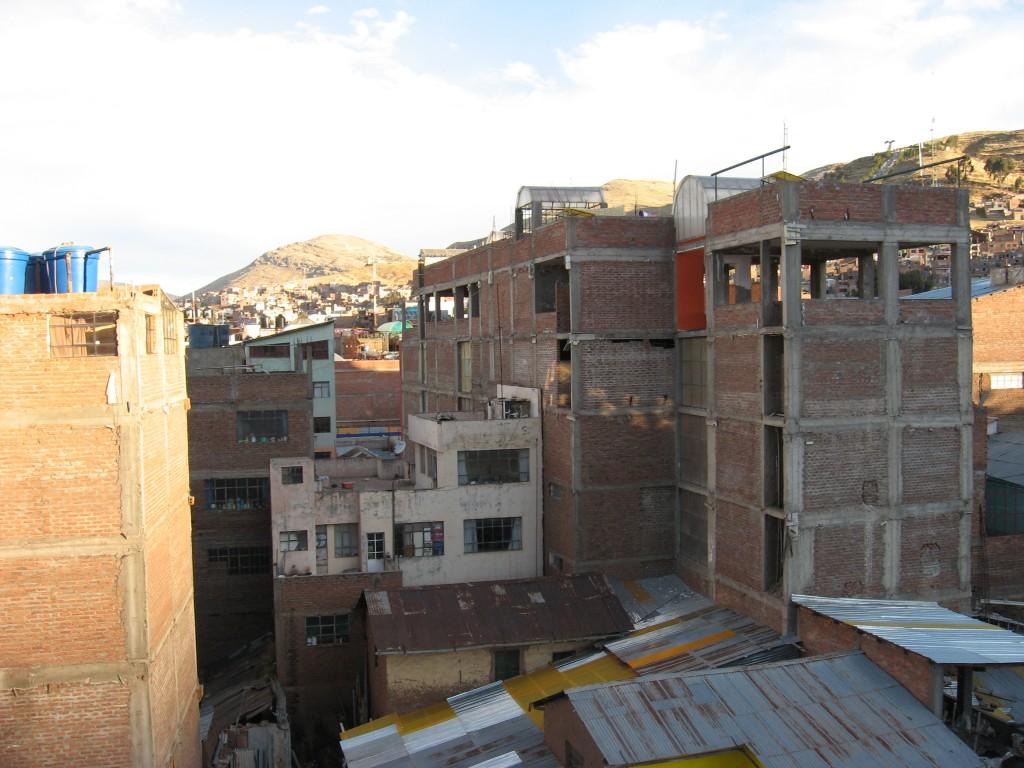 Typické domy ve stylu věžě