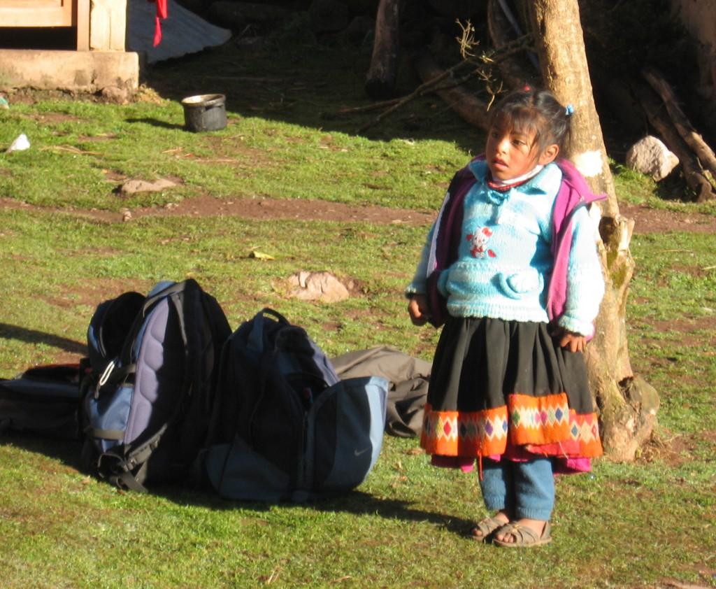 Peruánské dítě vypadá takhle.