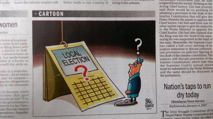 Z místního tisku. Kdy budou volby?